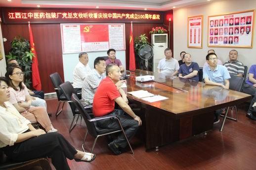 组织党员收看庆祝中国共产党成立100周年大会盛况